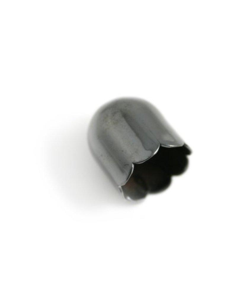 CDQ Cap 13mm platinum silver p. 30 pieces