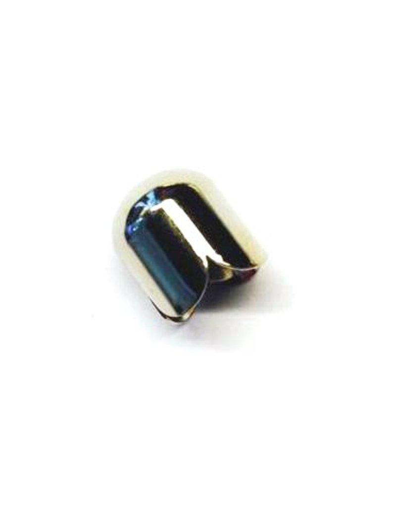 CDQ Jewelry cap 9mm platinum silver per 50 pieces