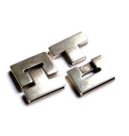 CDQ magnetic closure 38mmx5mm zinc alloy p. 5 pieces - Copy