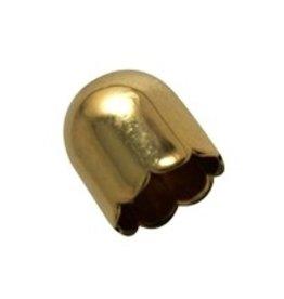 CDQ sieraden kapje 13mm goudkleur per 30 stuks