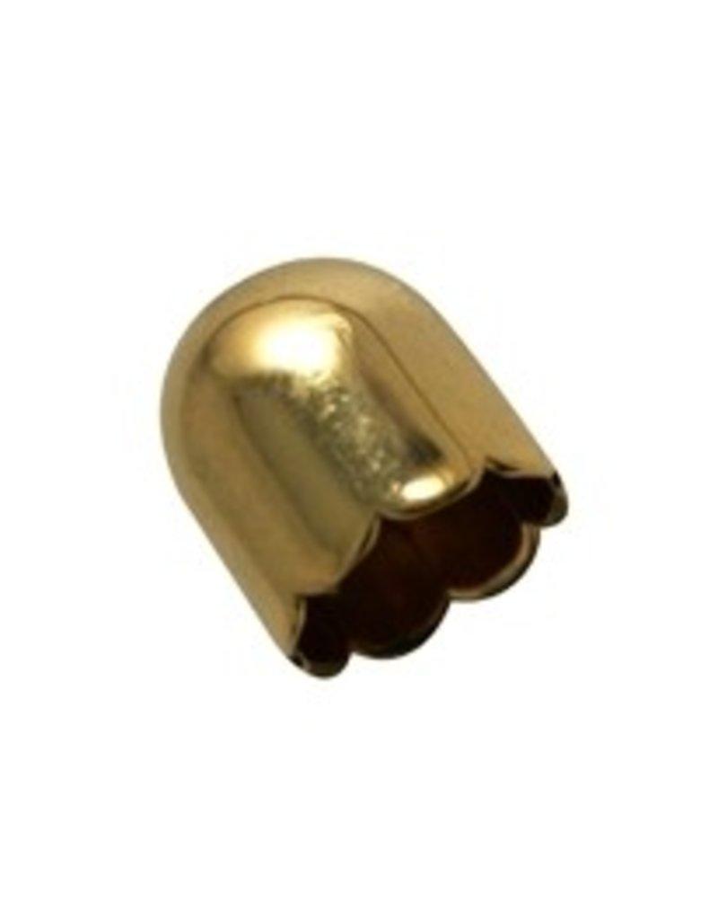 CDQ sieradenkapje 13mm goudkleur per 30 stuks