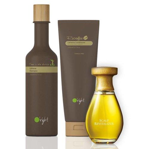 Caffeine Anti-Hairloss Kit (Shampoo+Conditioner+Serum)