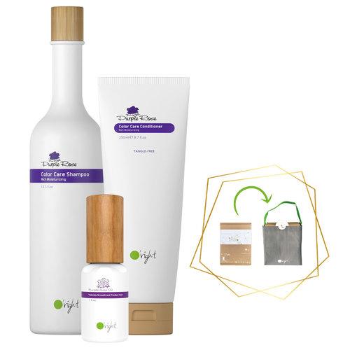 3x Haarverzorging Giftbox Purple Rose