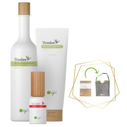 3x Haarverzorging Giftbox Bamboo