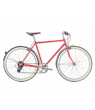 6KU Odyssey 8spd City Bike - Lincoln Red