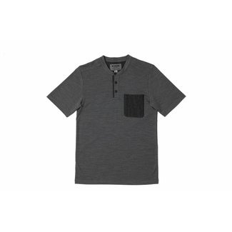 Chrome Industries SS Merino Henley Charcoal