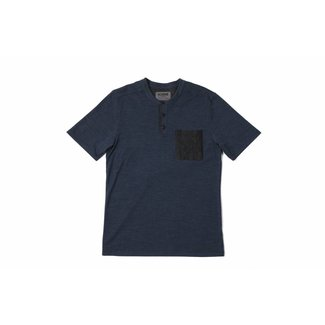 Chrome Industries SS Merino Henley Dark Blue