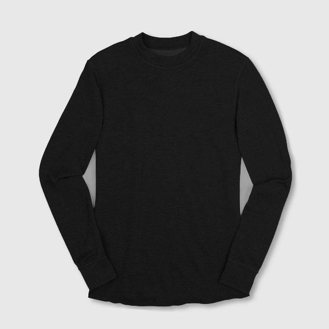 Chrome Industries Merino Wool Crewneck Long Sleeve Shirt - Black