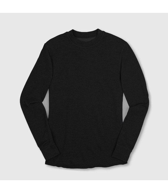 Chrome Industries Merino Wool Crewneck Long Sleeve Shirt - Black