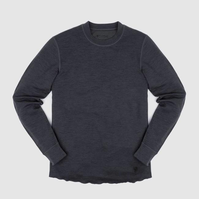 Chrome Industries Merino Wool Crewneck Long Sleeve Shirt - Charcoal