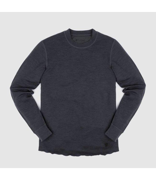 Chrome Industries Merino Wool Crewneck Long Sleeve Shirt - Charcoal