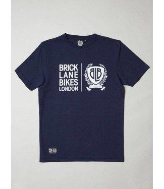 BLB BLB Twin Logo T-Shirt - Navy