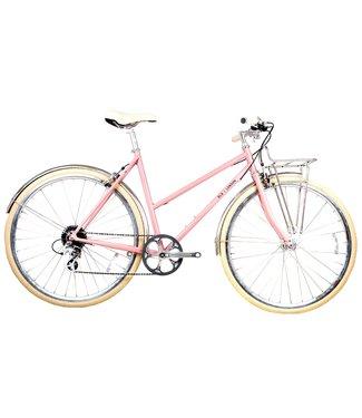 BLB Butterfly 8spd Town Bike - Dusty Pink