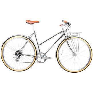 BLB Butterfly 8spd Town Bike - Chrome
