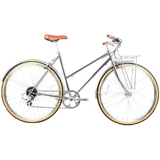Butterfly 8spd Town Bike Chrome