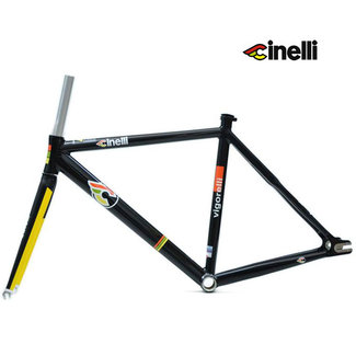 Cinelli VIGORELLI TRACK ALU FRAMESET - Black / Yellow