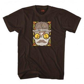 Cinelli Jeremy Fish 'MR CAT HAT' T-Shirt Brown