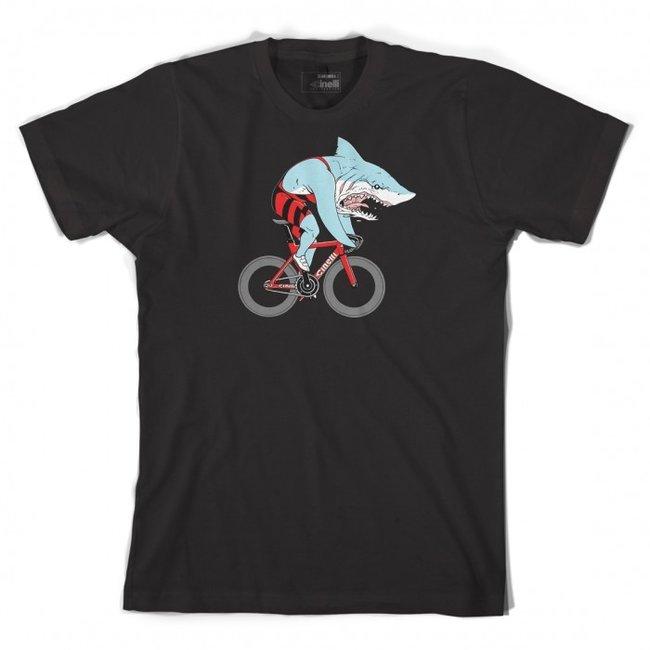 Cinelli Sam Turner 'SHARK' T-Shirt Black
