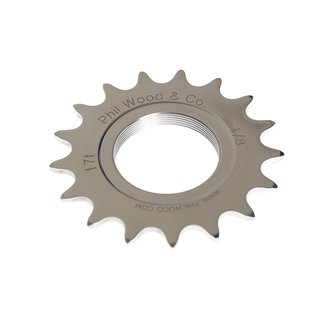 Phil Wood Track Sprocket Silver