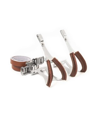 Schindelhauer Bikes Toe Clips With Leather Straps