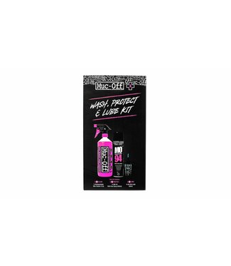 Muc Off Wash, Protect, Lube Kit (Wet Lube Version)