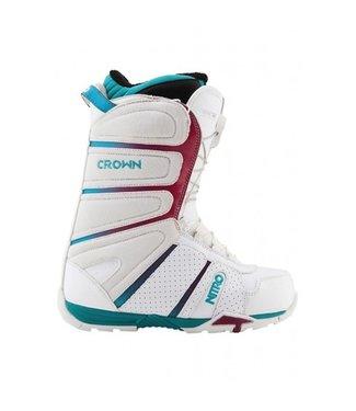 Nitro Snowboard Boots - Crown TLS White