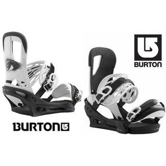 Burton Snowboard Bindings - Cartel All Eyez Black/White - Medium