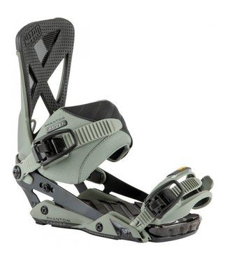 Nitro Snowboard Bindings - Phantom Carver Stone Grey/Black