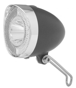 "Battery-LED Front Light ""Klassik"" Black"