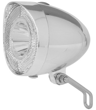 "Battery-LED Front Light ""Klassik"" Silver"