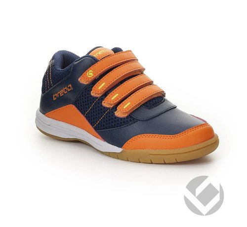 Brabo Velcro Navy/Oranje/Lime Indoor