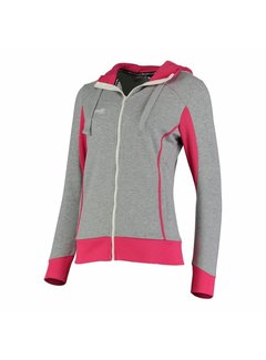 Reece Kate Hooded Zip Sweat Grey/Pink