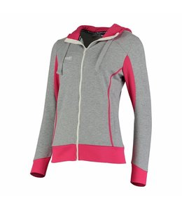 Reece Kate Hooded Zip Sweat Grau/Pink
