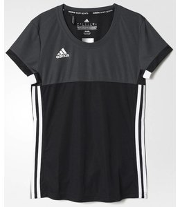 Adidas T16 'Oncourt' short sleeve shirt Dames Zwart