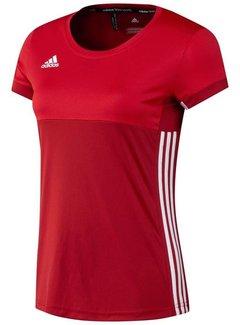 Adidas T16 'Oncourt' short sleeve shirt Dames Rood