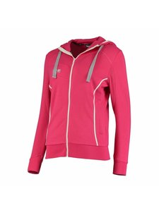 Reece Kate Hooded Zip Sweat Pink/White