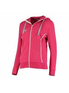 Reece Kate Hooded Zip Sweat Pink/Weiß