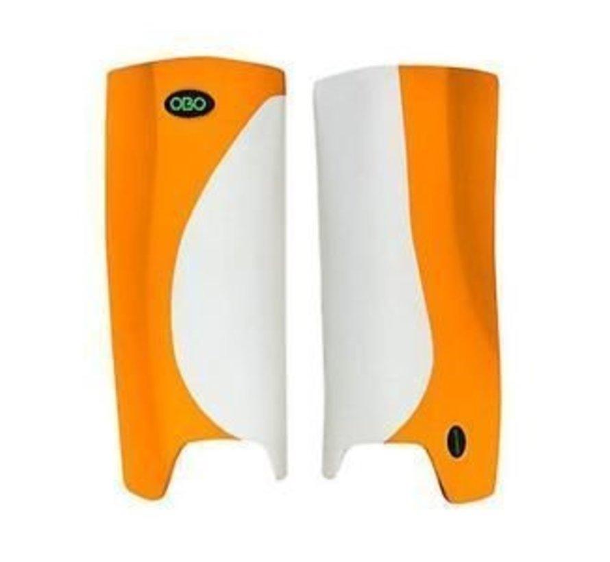 ROBO Hi-Rebound Legguards Weiss/Orange