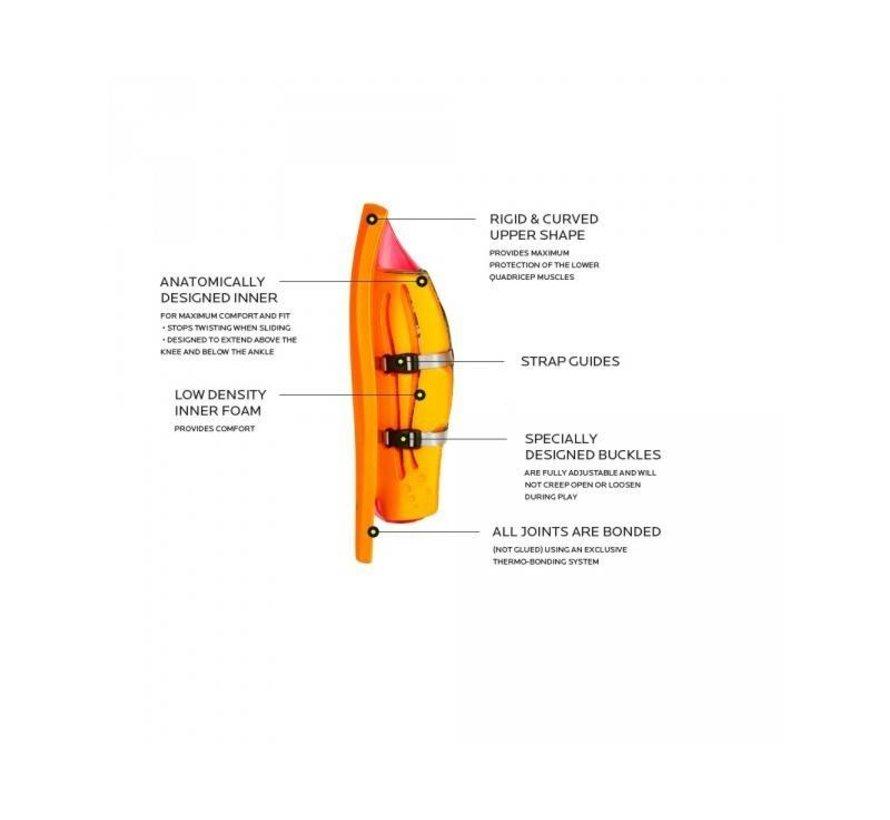 ROBO Hi-Rebound Legguards Roze/Oranje