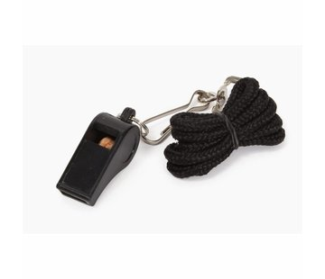 Stanno Whistle with Chord Black