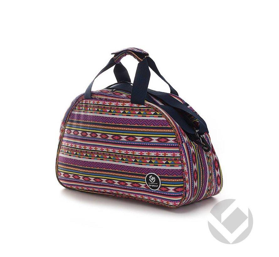 Shoulderbag Ibiza Roze/Wit/Oranje