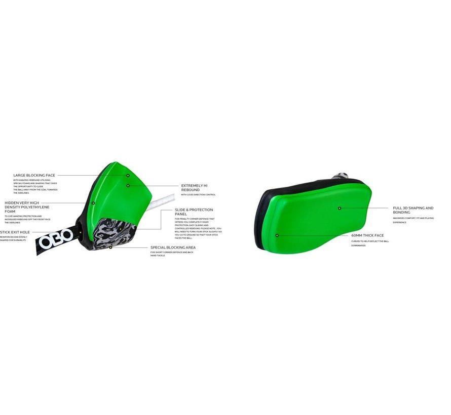 ROBO Hi-Rebound Handprotector Rood/Zwart Links