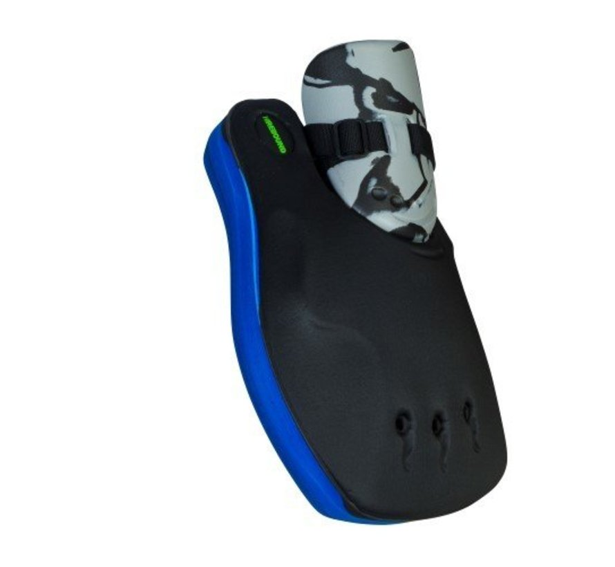 ROBO Hi-Rebound Handprotector Blauw/Zwart Links