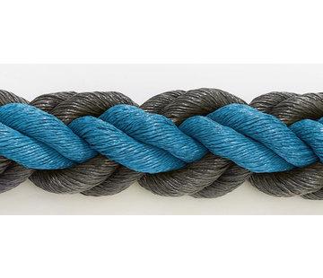Hockeypoint Hockeytouw Blauw/Zwart 8mm  per 30 meter ( prijs incl btw)