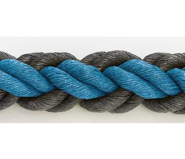 Hockeyseil Blau/Schwarz 8cm pro 30  Meter ( Preis inkl. MWST )