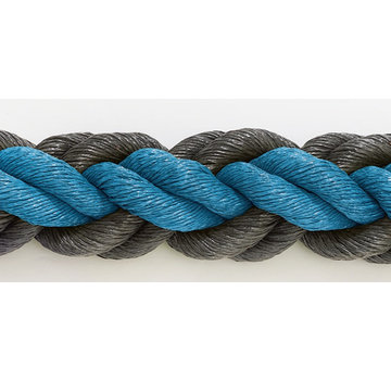 Hockeypoint Hockeyseil Blau/Schwarz 8cm pro 30  Meter ( Preis inkl. MWST )