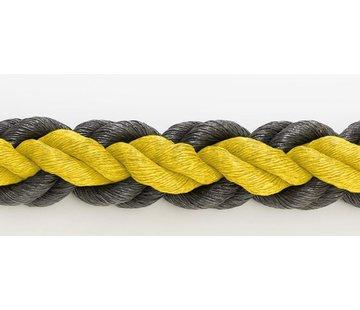 Hockeyrope Yellow/Black 8cm per 30 meters (price incl VAT)