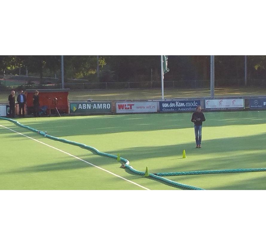 Hockeytouw Geel/Zwart 8mm  per 30 meter ( prijs incl btw)
