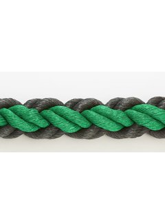 Hockeytouw Groen/Zwart 8mm  per 30 meter ( prijs incl btw)