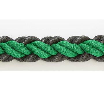 Hockeyrope Green/Black 8cm per 30 meters (price incl VAT)